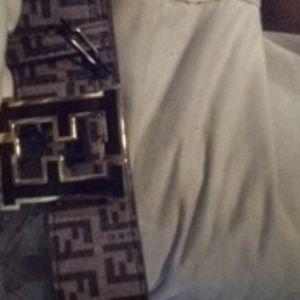 Authentic men's Fendi belt